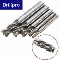 Drillpro 5pcs 4-12mm 4 Flute End Mill Milling Cutter CNC Tool HSS Drill Bit