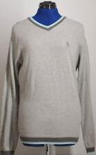 PENGUIN by Munsingwear V-Neck 100% Cotton Men's Sweater (Heathered Gray) Small