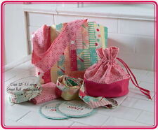 LEARN TO SEW ACCESSORIES KIT ~ Tote Bag +2 Patterns +D Rings +Moda Lining Fabric
