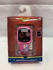 DC Wonder Woman LED Digital Watch Touchscreen Display Girls Kids Pink New B4