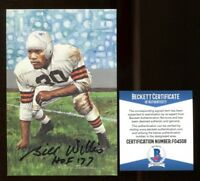 Bill Willis Signed Goal Line Art GLAC Autographed w/HOF Browns Beckett BAS