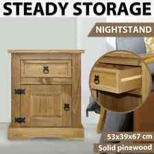 vidaXL Bedside Cabinet Mexican Pine Corona Range Bedroom Nightstand Table