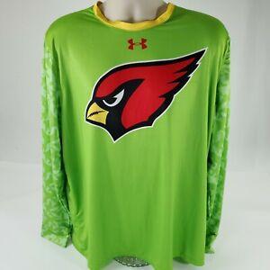 Under Armour Mens XL Long Sleeve Tee Arizona Cardinals Stretch Workout T Shirt