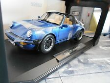 Porsche 911 930 turbo 3.3 G-modelo Targa 1987 azul Blue 187663 norev 1:18