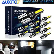AUXITO 10 x T10 W5W LED Wedge Interior Number Plate Light Globe Error Free 6000K