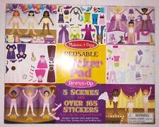 Melissa & Doug Reusable Sticker Pad Dress-Up Paper Dolls - Over 165 Stickers