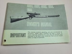MARLIN MODEL 336C, 336T, 444S, 1894, 1895 OLDER STYLE LEVER ACTION OWNERS MANUAL