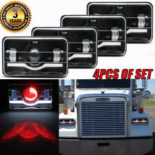 4x6 300w Led Headlights For Kenworth T800 Freightliner Fld120 Peterbilt 379 378 Fits Mustang