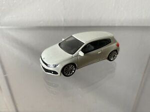 VERY RARE VW SCIROCCO R 2.0 TURBO 2010 CANDY WHITE 1:43 NOREV DEALER MODEL USED