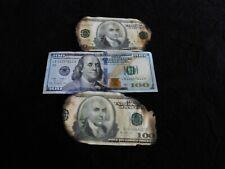 2-Dark knight burnt money screen used w Copy COA Batman movie prop bill Joker