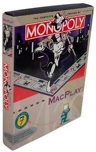 MONOPOLY MacPlay VTG 90s Big Box VIDEO GAME For Mac Floppy Disk 1994 CIB