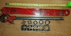 Vintage  Craftsman pipe threader with dyes and guides