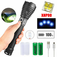 Potente XHP50/XHP70/ XHP90 linterna LED zoomable LED antorcha luz USB recargable