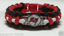 Tampa Bay Buccaneers Red, Black, and White Handmade Paracord Bracelet or Lanyard