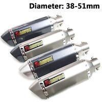 Universal 38-51mm Motorcycle Carbon Fiber Exhaust Muffler w/ Silencer DB Killer