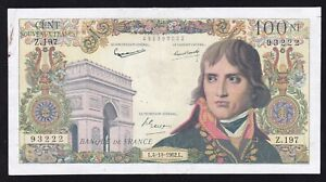 FRANCE ------ 100 NF / FRANCS  1962 ------- VERY  NICE -----