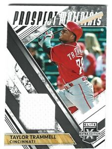 Taylor Trammell 2019 Elite Extra Prospect Materials Jersey RC