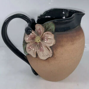 Old Patagonia Pottery Flower Pitcher Marty Frolick, 1988, Vintage! RARE!