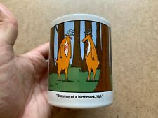 VINTAGE 1986 ANDREWS MCMEEL FAR SIDE GARY LARSON DEER BIRTHMARK COFFEE MUG