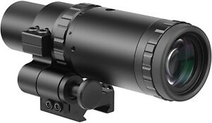 Feyachi M37 1.5X - 5X Red Dot Magnifier with Flip to Side Mount Focus Adjustment