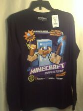 Official Minecraft Mojang Design by Jinx Navy Long Sleeve T-shirt Xlarge