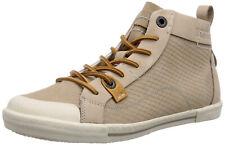 YELLOW CAB - leren halfhoge sneakers Foxy Taupe - maat 39
