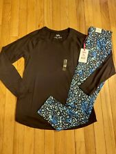 NWT Girls Justice Black Layering Top Size 18/20 -  Leggings Size 16/18