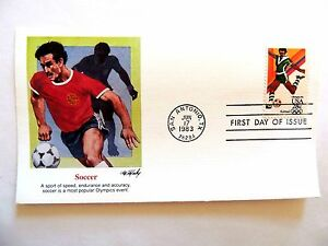 """June 17th, 1983 """"Soccer"""" First Day Issue"""