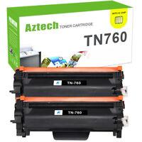 2PK TN760 TN-760 Toner Compatible for Brother HL-L2350DW HL-L2370DW MFC-L2710DW