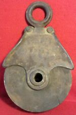 VINTAGE ~ CAST IRON ~ INDUSTRIAL / FARM ~ PULLY ~ WITH A WOODEN WHEEL