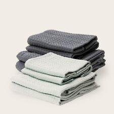 Bathen Waffle Towel Set Charcoal Gray Causebox Fall 2020 - 2 Bath 2 Hand Towels