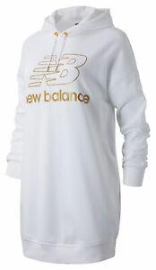 New Balance Women's NB Athletics Village Hoodie Dress White