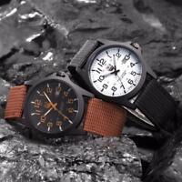 Luxury Mens Date Stainless Steel Military Sports Analog Quartz Army Wrist Watch