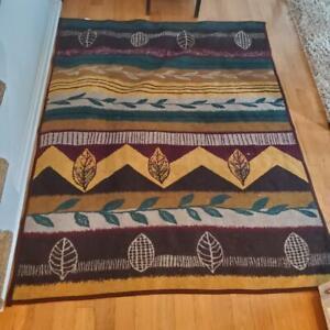 Vintage San Marcos Throw Blanket Southwest San Jose Autumn Pattern 60 x 80