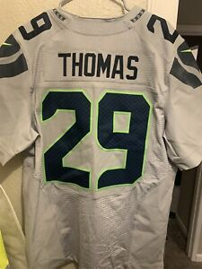 Earl Thomas Seahawks Road Authentic Road Nike Elite Stitched Jersey Size 44 295