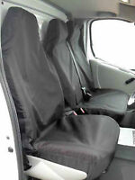 CITROEN DISPATCH (2007+) WATERPROOF BLACK VAN SEAT COVERS SINGLE & DOUBLE 2+1