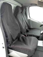 PEUGEOT EXPERT (07 ON) WATERPROOF BLACK VAN SEAT COVERS SINGLE & DOUBLE 2+1