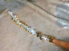 IVORY CHAMPAGNE Reversible 5mm Sequin Fabric Flip Two Tone Stretch 130cm wide