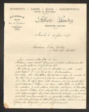 """MAICHE (25) EPICERIE MERCERIE BOIS CAMIONNAGE """"Albert SANDOZ"""" en 1917"""