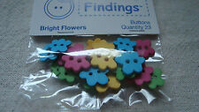 Favorite Findings Mix Bright Flower Buttons -Scrapbooking/Craft/Doll Clothes