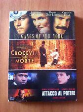 Cofanetto Film GANGS OF NEW YORK  CROCEVIA DELLA MORTE  ATTACCO AL POTERE 3 DVD