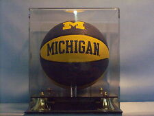 Mini basketball display case sports memorabilia black base NBA NCAA