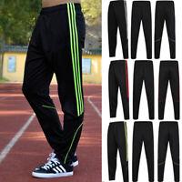 Men Sport Pants Long Trousers Tracksuit Fitness Workout Joggers Gym Sweatpants W