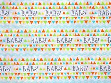 FAT QUARTER FABRIC  BABY NURSERY UNISEX BABIES CHILDREN 100% COTTON QUILTING  FQ
