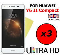 3x ULTRA HD CLEAR SCREEN PROTECTOR COVER SAVER FILM FOR HUAWEI Y6 II COMPACT