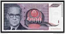 SY13A YUGOSLAVIA 5000 DINARA BANKNOTE 1991 UNCIRCULATED P.111 $7.50