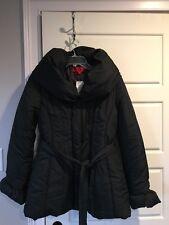 Women's Coffeshop Black Winter Puffer Belted Coat Size L - NWT
