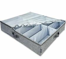 Tiobra ajustable Organizador de Zapatero de debajo de cama con separadores de 10, la placa base