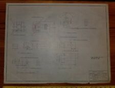 Reclaimed Vintage Mechanical Blueprint Drawing, P.R. Mallory Indpls Dated 1952