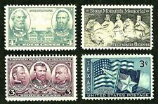 US Civil War confederate army generals Robert E Lee,Jackson, Grant... 1937 stamp